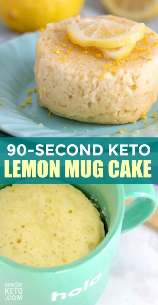 When you're craving something sweet, it doesn't get any easier than this Keto Lemon Mug Cake! Ready in minutes using only a microwave!
