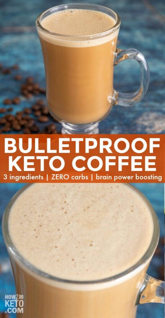 You've never had a coffee like this! SO rich & creamy, this Keto Bulletproof Coffee Recipe will be your go-to pick me up! Only 3 ingredients & ZERO carbs!