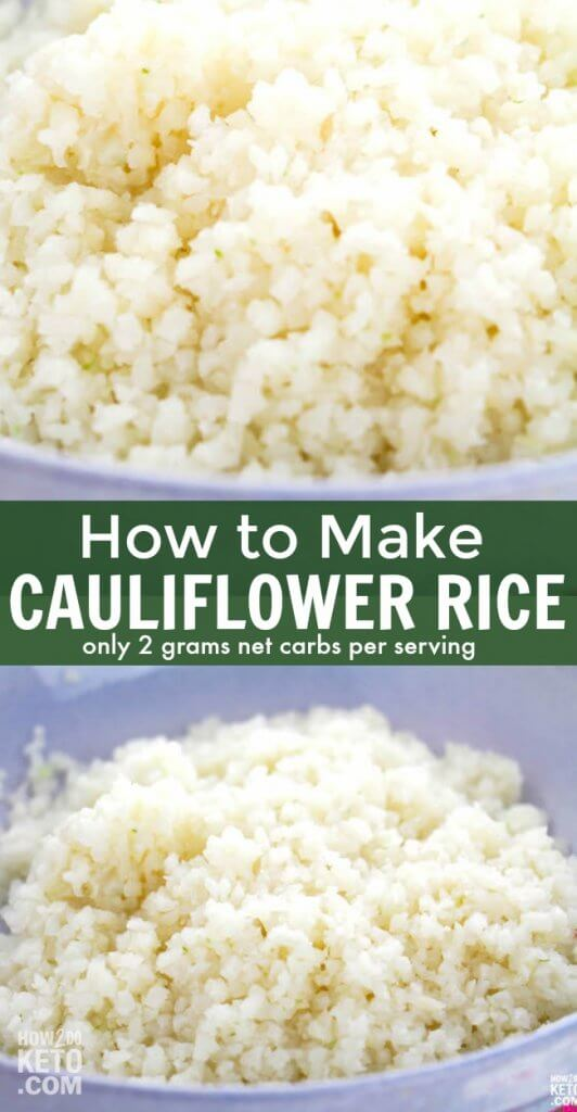 Missing rice while on the keto diet? Cauliflower rice is one of the most satisfying low carb side dishes and it's surprisingly easy to make!