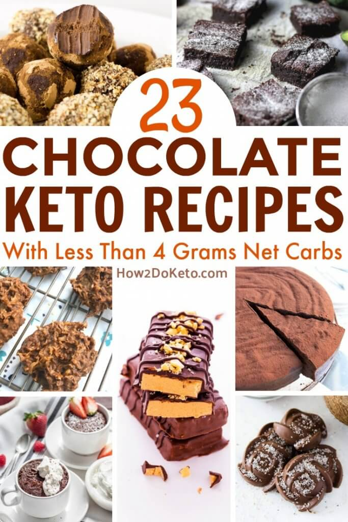 Guilt-free chocolate?? You better believe it!! Each of these Decadent Keto Chocolate Recipes contains less than 4 grams net carbs!