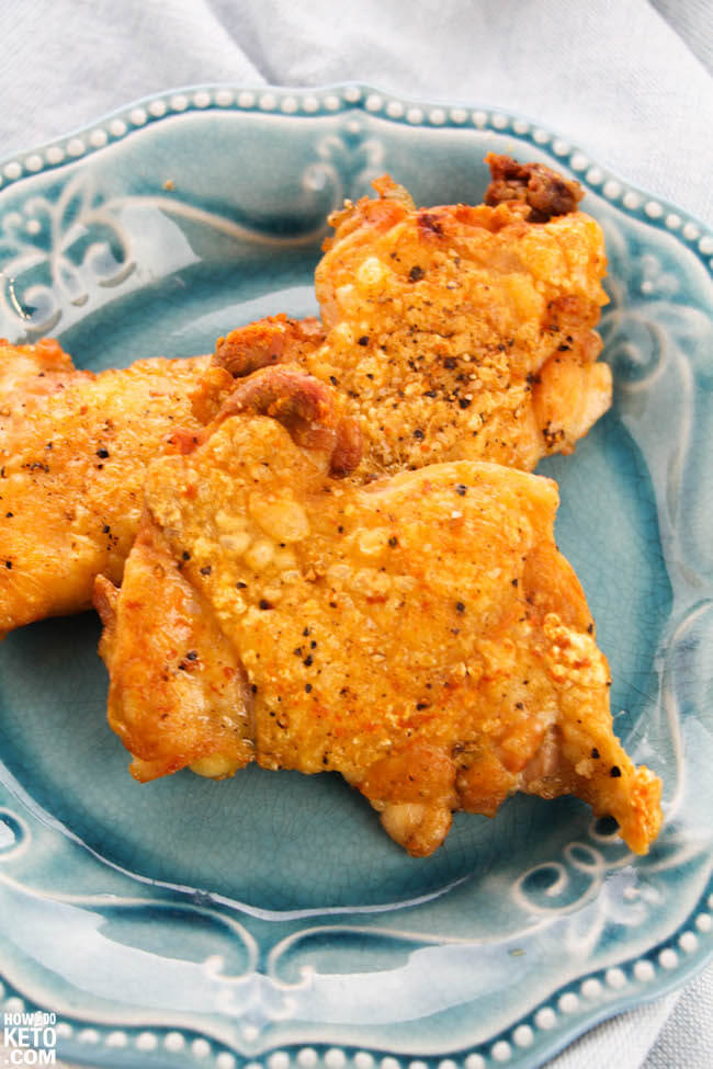 Banish boring chicken recipes forever! This Keto Crackle Chicken is tantalizingly crispy on the outside and tender and juicy on the inside - it might just be the best chicken ever!!