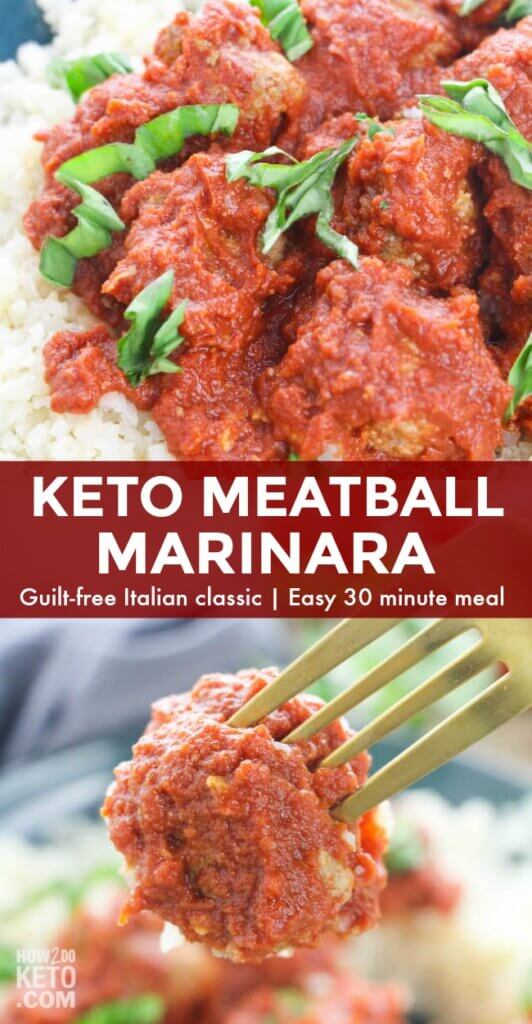 Finally, guilt-free, low-carb Italian!! This Keto Meatball Marinara is a comfort food classic you can enjoy anytime!
