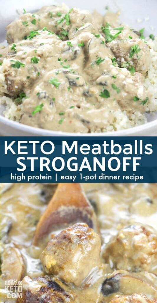 A classic comfort food that is a guaranteed hit with the whole family - this Keto Meatball Stroganoff is ready in less than 30 minutes and packed with nutrients!