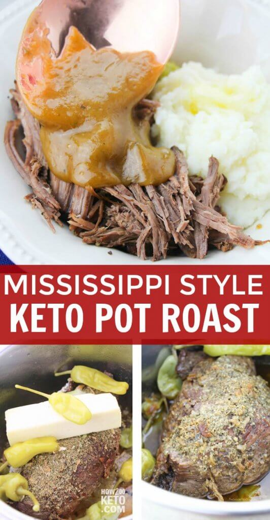 This Instant Pot Mississippi Style Keto Pot Roast is so tender it melts in your mouth! A comfort food classic made keto-friendly but every bit as flavorful!