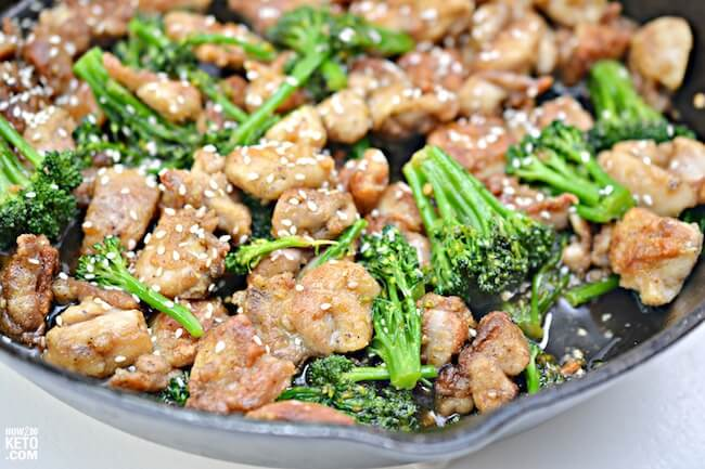 This Keto Sesame Chicken is a delicious and guilt-free version of a Chinese takeout favorite!