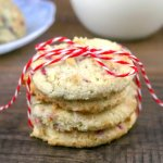 These Keto Raspberry Almond Shortbread Cookies are the perfect crumbly, buttery texture and less than 1 gram net carbs per serving!
