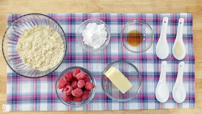 raspberry almond shortbread cookies ingredients