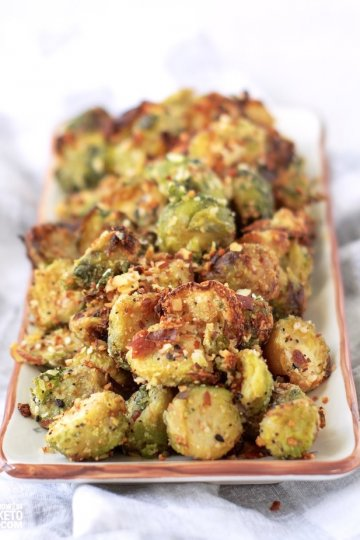 You've never had Brussels sprouts like these! Our ParmesanAir Fryer Brussels sproutsare crispy, savory, and absolutely delicious! Plus they're keto-friendly!