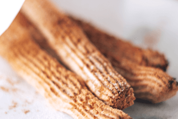 A carnival classic, gone guilt free! These delicious cinnamon sugar keto churros have only 1 gram of net carbs per serving!