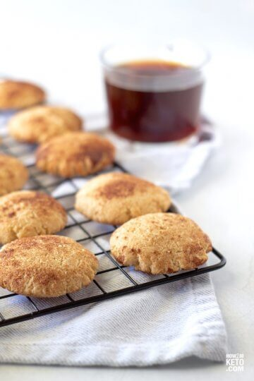 Our fluffy and delicious cinnamon sugar keto snickerdoodles have only 2 grams of net carbs each!
