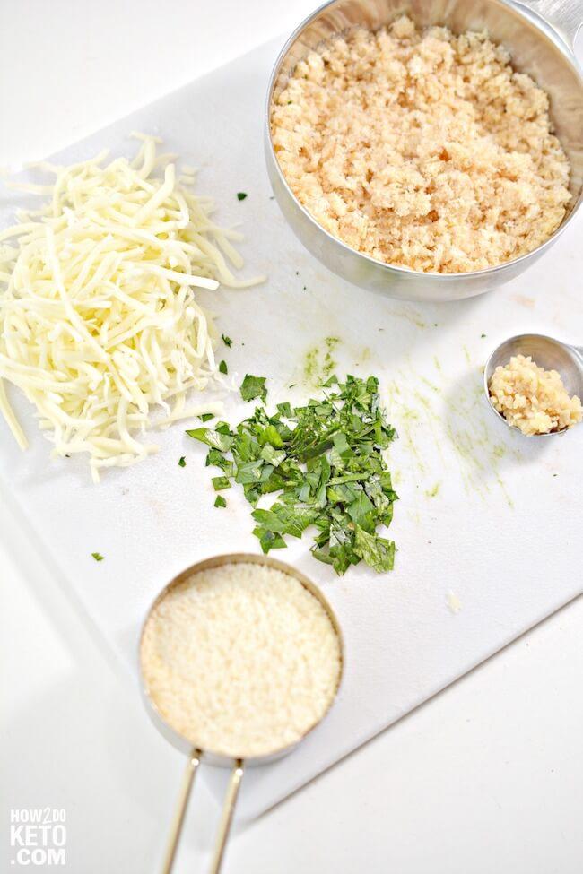 ingredients to make low carb stuffed artichoke recipe