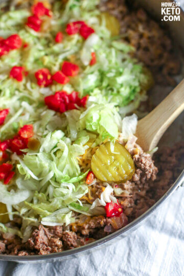 Fast-food gone guilt-free! ThisKeto Big Mac Salad packs all the flavor of your favorite burger, without all the carbs!