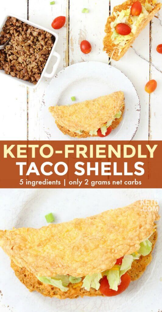 With our deliciously crunchy and cheesy Keto Taco Shells, Taco Tuesday is better than ever! Only 5 ingredients and 2 grams net carbs!