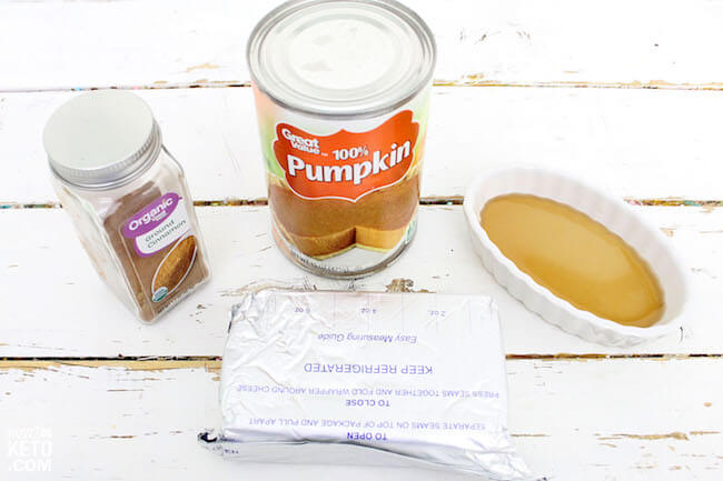 canned pumpkin and cream cheese to make keto truffles