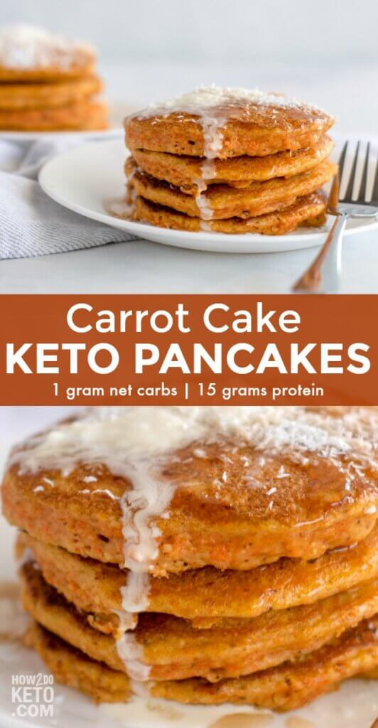 You'll never miss the carbs when you make these deliciously decadent Carrot Cake Keto Pancakes! Packed with veggies, protein, and good fats, these keto carrot pancakes are the perfect way to start your day!