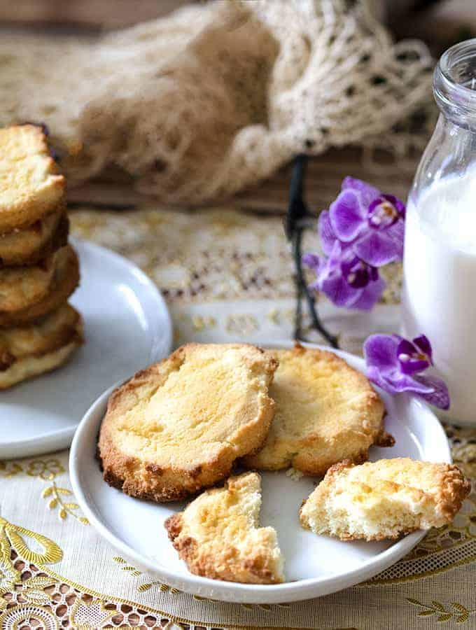 keto cream cheese cookies on plate