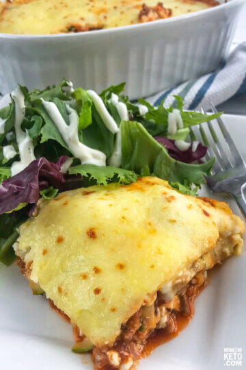 """This Easy Keto Lasagna Zucchini is the perfect kid-friendly keto dinner! You can even let them help layer the """"noodles!"""""""