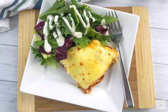 zucchini lasagna on plate