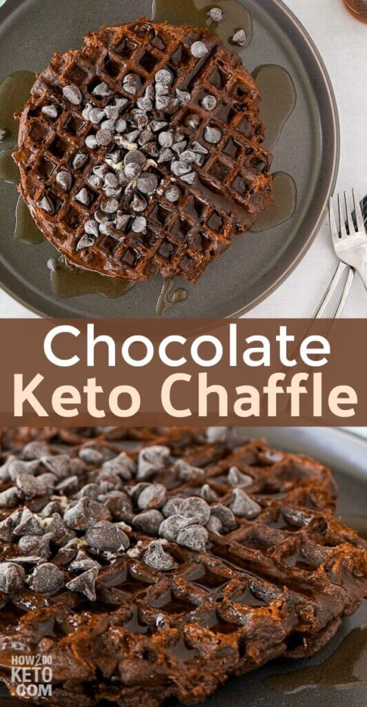 These Keto Chocolate Chaffles are an awesome keto-friendly way to satisfy that breakfast waffle craving!