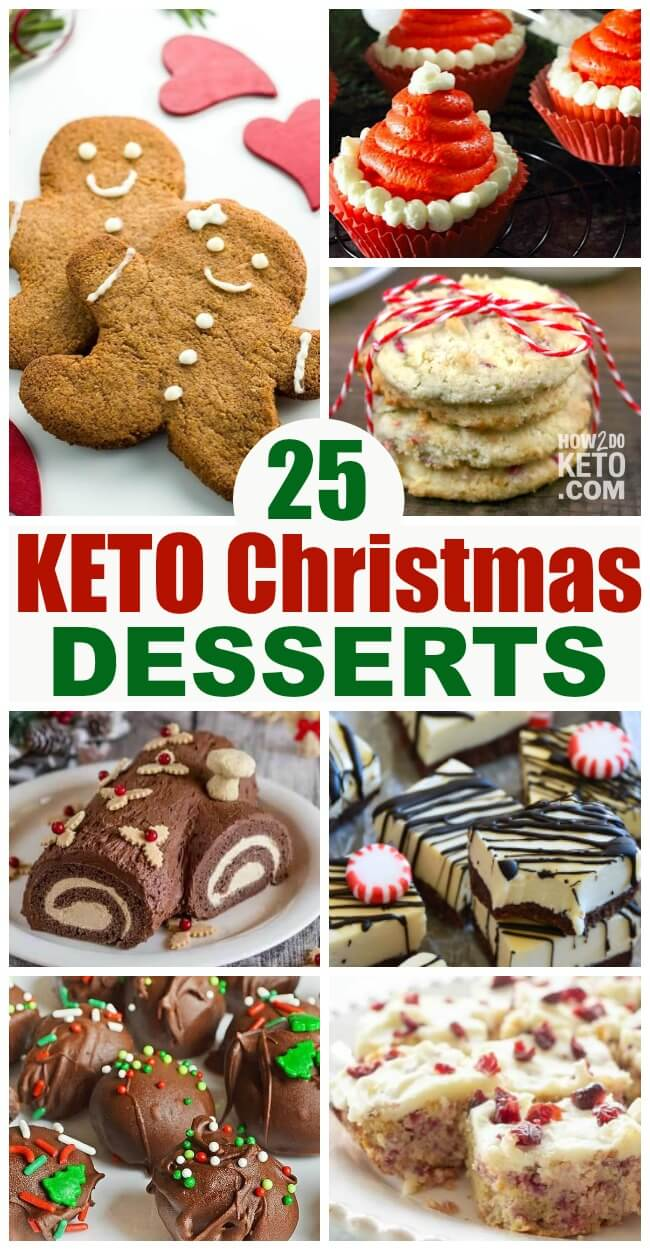 A giant collection of the best Keto Christmas Desserts! Keto Christmas cookies, cupcakes, candy, and more!