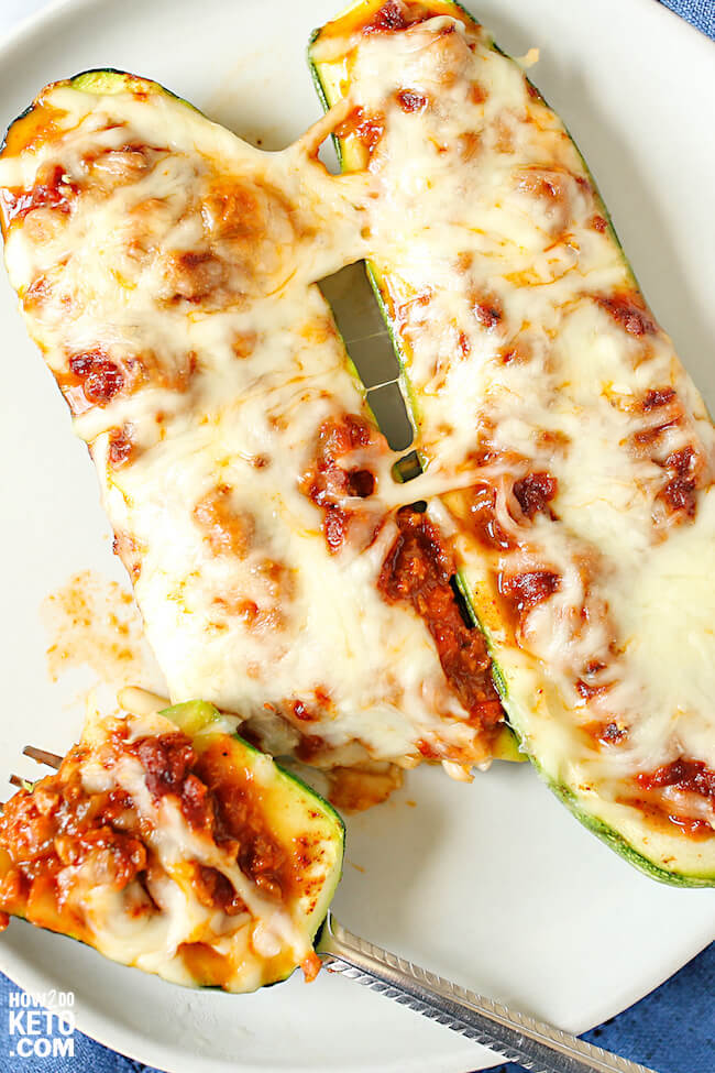 Our Stuffed Keto Zucchini Boats are quick, easy and delicious! We'll show you how to make Italian low carb flavor or pizza zucchini boats with one recipe!