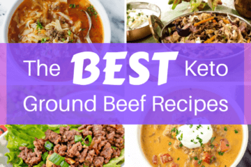 Tacos, burgers, lasagna, oh my! With these easy keto ground beef recipes you can whip up an absolutely delicious keto dinner fast and it's sure to be a hit!