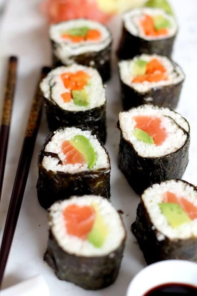 keto sushi with cauliflower rice