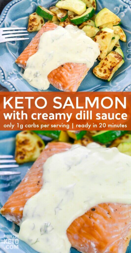 Baked Keto Salmon with Creamy Dill Sauce