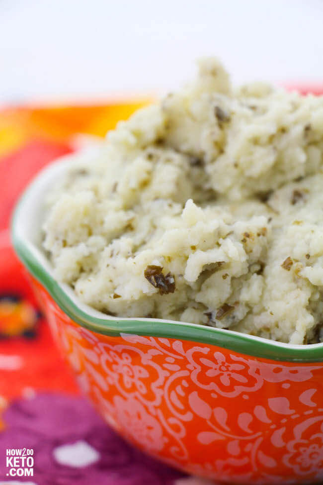 pesto cauliflower mashed potatoes