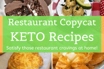 collage of photos of keto versions of restaurant dishes
