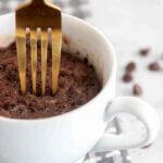 chocolate peanut butter mug cake keto