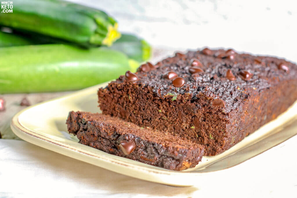 Chocolatey and sweet, this Chocolate Zucchini Bread is a great keto-friendly snack or dessert! With fresh zucchini baked right in, this low carb chocolate zucchini loaf is super moist and delicious!