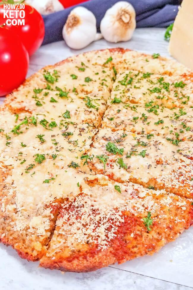 keto garlic bread sliced