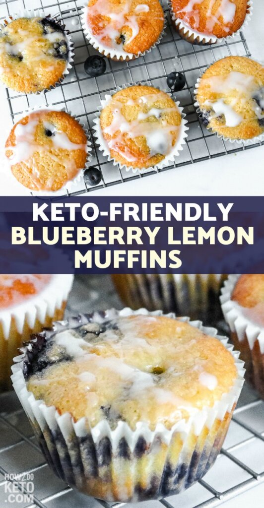 Light and delicious, these Keto Blueberry Lemon Muffins are a perfect breakfast treat!