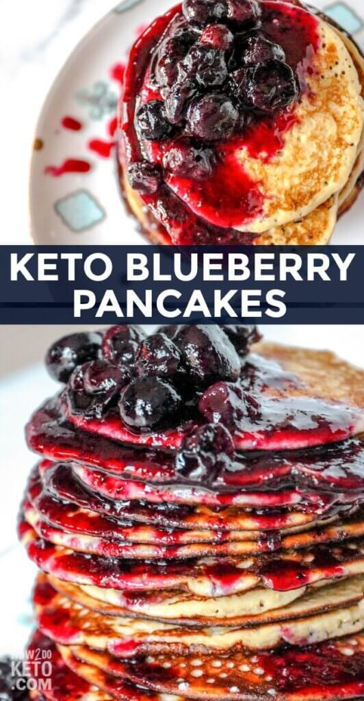 These sweet and delicious Keto Blueberry Pancakes are the perfect keto breakfast treat!