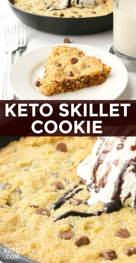 Cookie skillets are a classic dessert, and with this Keto Skillet Cookie, you can feel better about indulging!