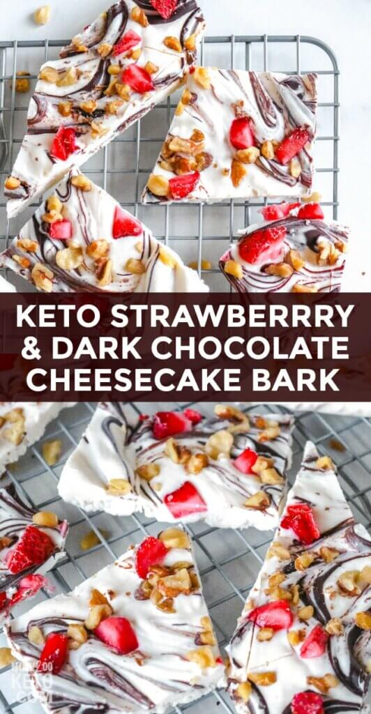 Our delicious Keto Strawberry White Chocolate Bark is the perfect dessert to class up any meal!