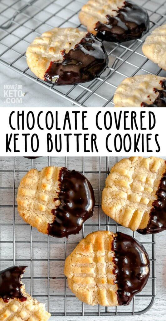 chocolate dipped keto butter cookies