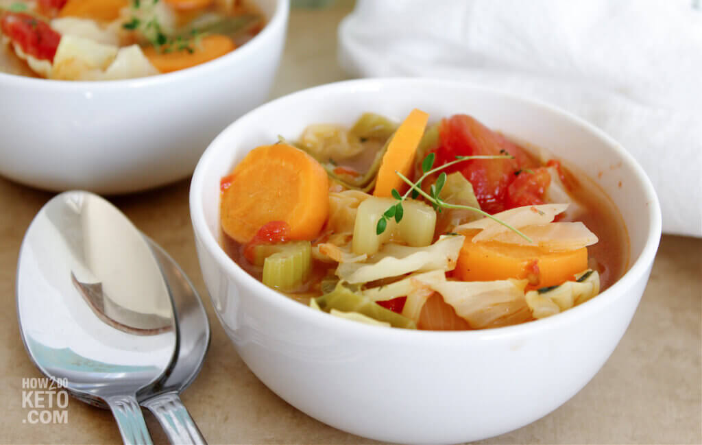two bowls of cabbage soup