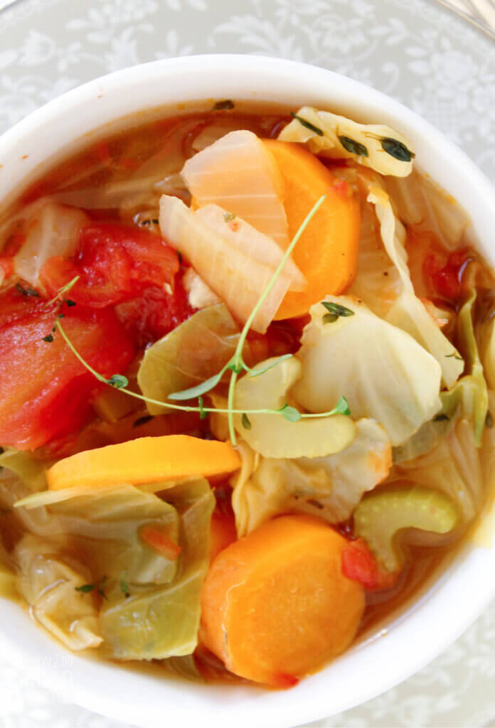 Simple clean ingredients make this Cabbage Soup the perfect meal for anyone on a keto diet!