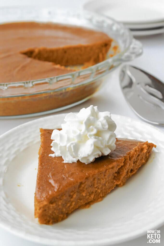 crustless keto pumpkin pie