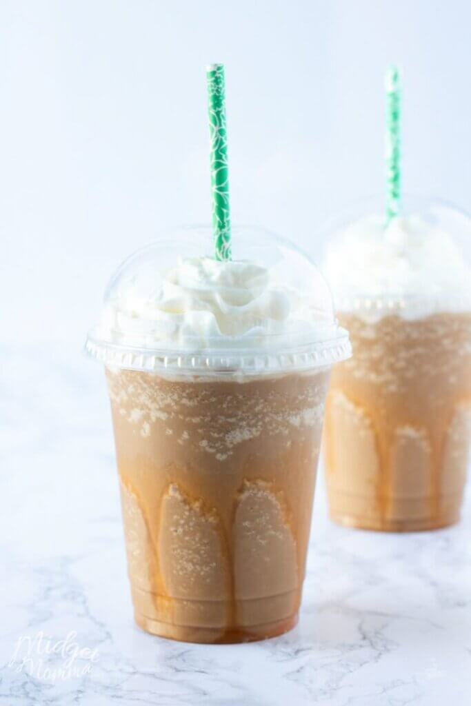low carb caramel frappuccino