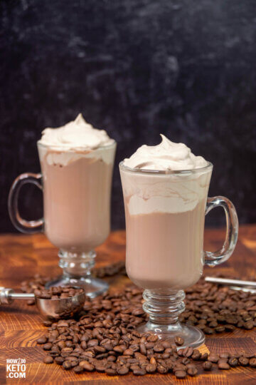 keto whipped coffee - a low carb dalgona coffee