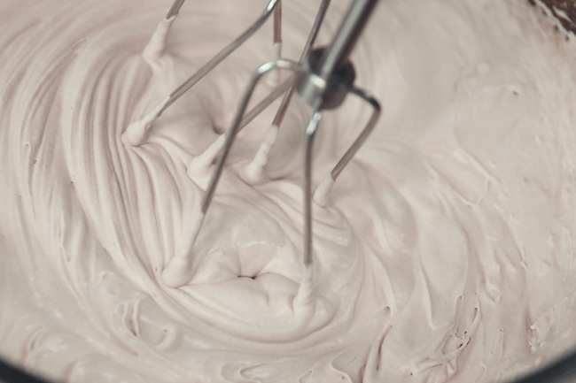 using mixer to make whipped cream