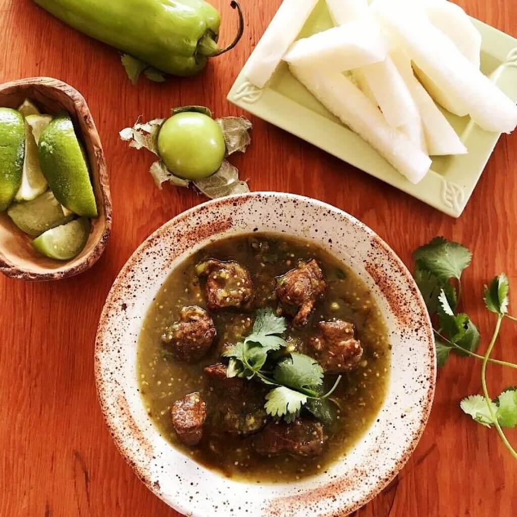 pork in green chili sauce