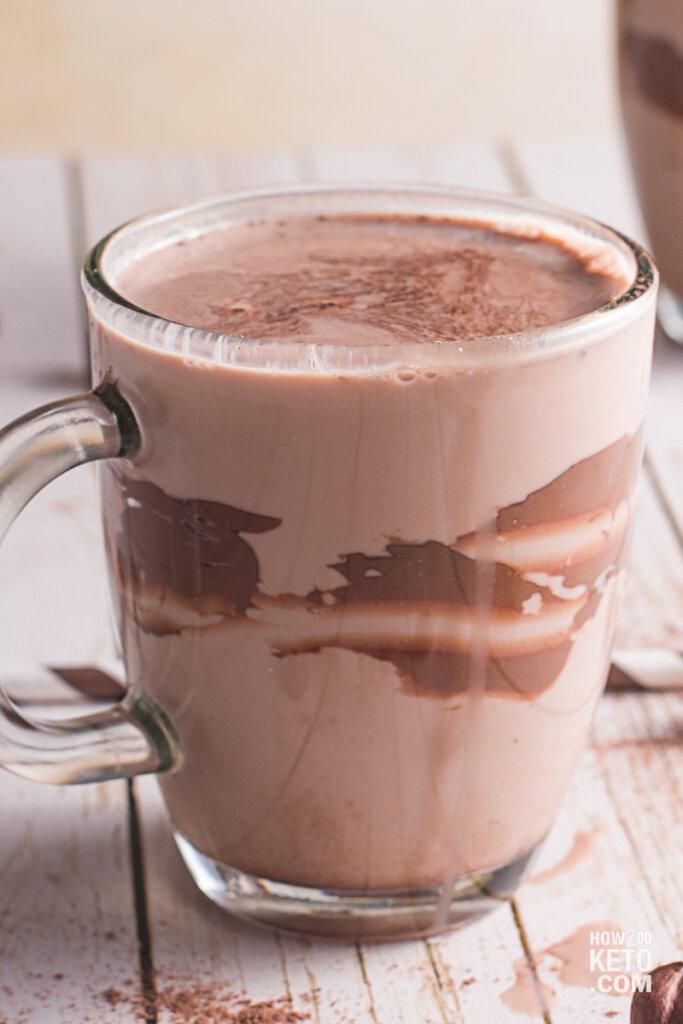 chocolate milkshakes with swirl