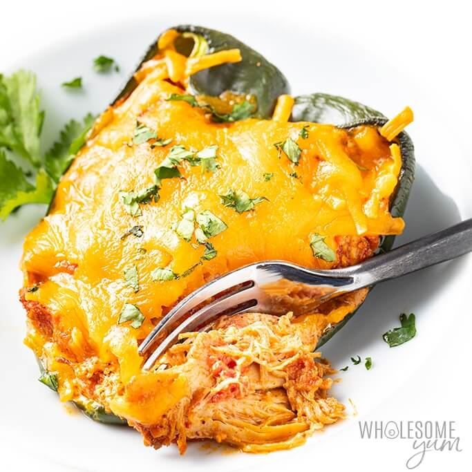 cheese stuffed poblano pepper