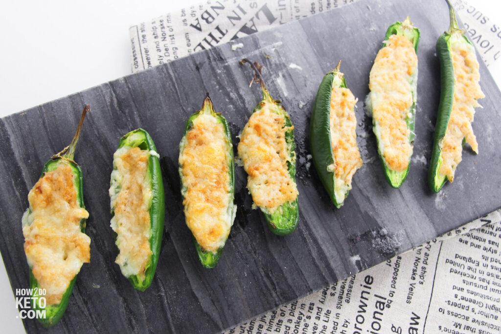 baked keto jalapeño poppers