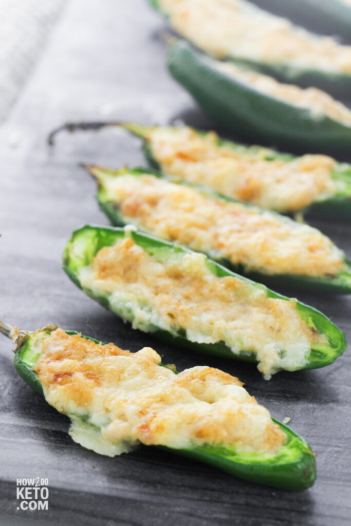 cream cheese stuffed low carb jalapeño peppers