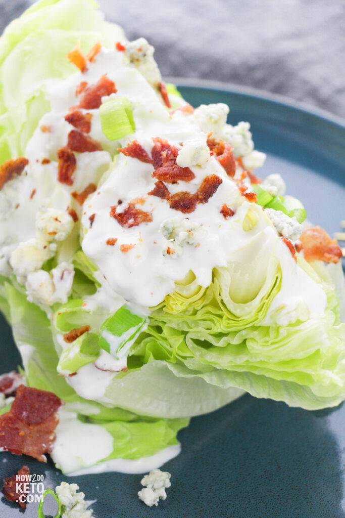Bring restaurant-style salad home with this Keto Wedge Salad, guaranteed to take your salad to the next level!
